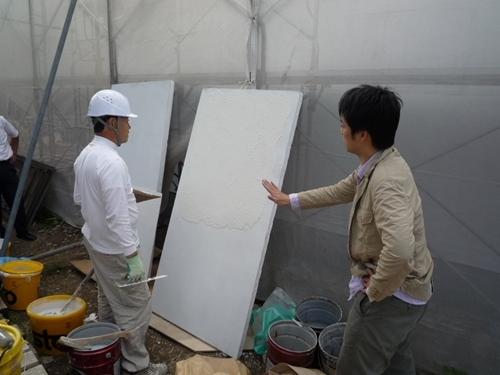 $リノベーションで心豊かな北海道の暮らしを実現したい!-外壁左官仕上げ3