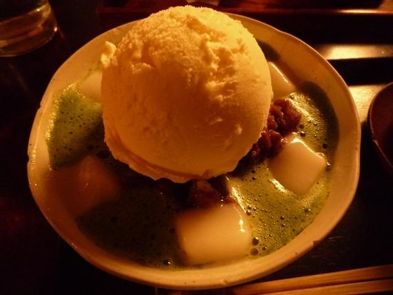 $リノベーションで北海道の豊かな暮らし-円山茶寮 抹茶ぜんざい