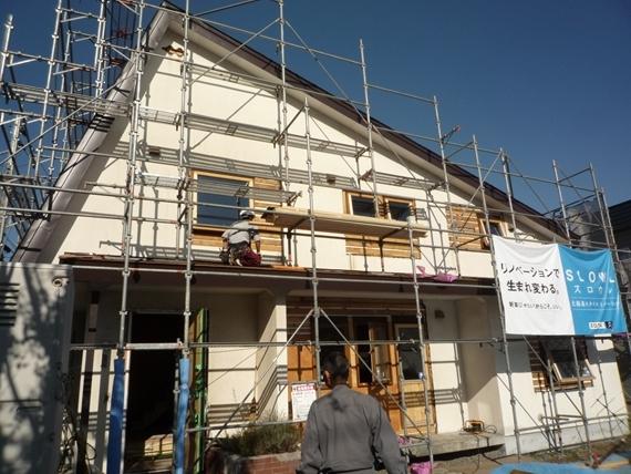 リノベーションで北海道の豊かな暮らし-江別リノベーション住宅、シングル葺き屋根