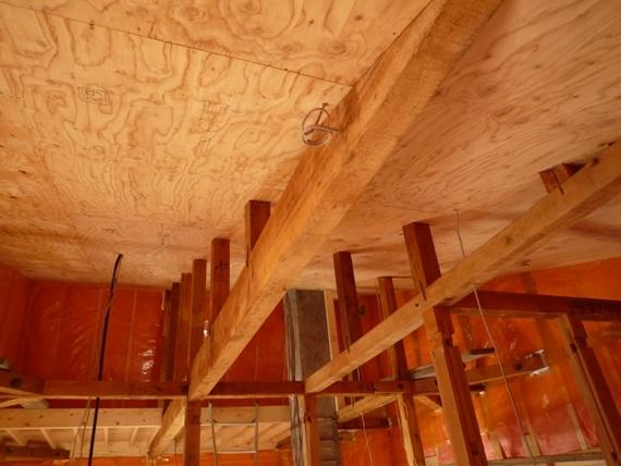 $リノベーションで北海道の豊かな暮らし-江別リノベーション住宅、天井の断熱