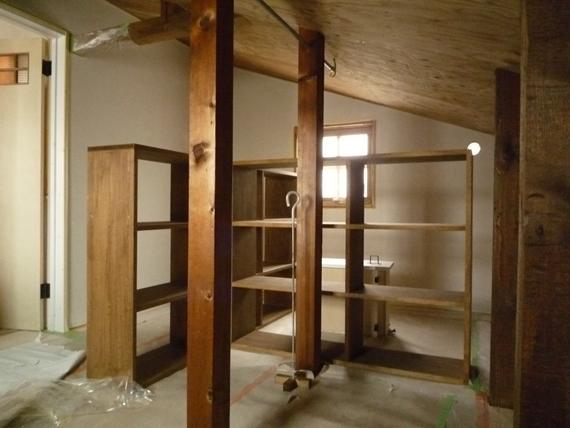 リノベーションで北海道の豊かな暮らし-江別リノベーション住宅、建具塗装
