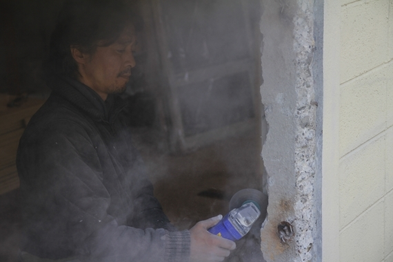 リノベーションで北海道の豊かな暮らし-札幌ブロック造リノベーション、サッシ交換