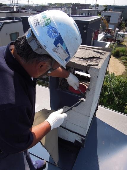 リノベーションで北海道の豊かな暮らし-札幌リノベーション解体現場、板金屋根の撤去