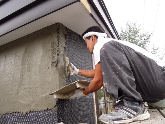 リノベーションで北海道の豊かな暮らし-モルタル壁、札幌リノベーション